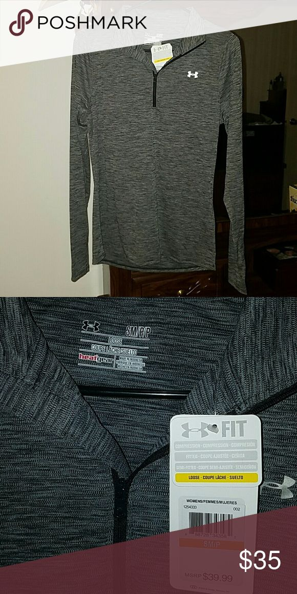 Under Armour long sleeves half zip Fitted long sleeve, half zip compression top. Brand new with tags on. Under Armour Tops Tees - Long Sleeve