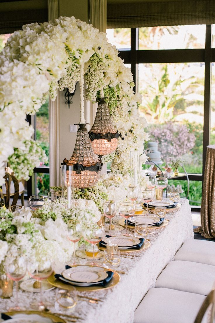 101 best wedding head tables images on pinterest wedding ideas vintage inspired tablescape with flower arch for wedding styled shoot junglespirit Image collections