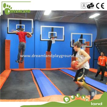Simple Wholesale Commercial Bungee Jumping Trampoline with Basketball Hoops
