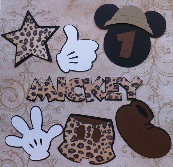 DIY Mickey Mouse Safari Hat Head Shoe by sandylynnbscrapping