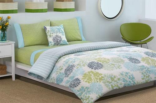 Dkny Secret Garden Aqua Blue Green Floral Twin Xl