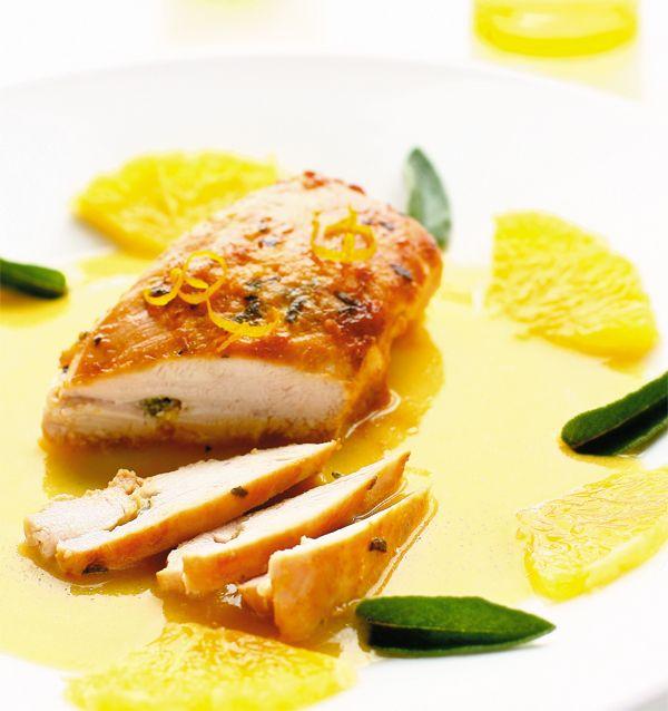 Filé de frango ao molho de pêssego diet / DIY, Food