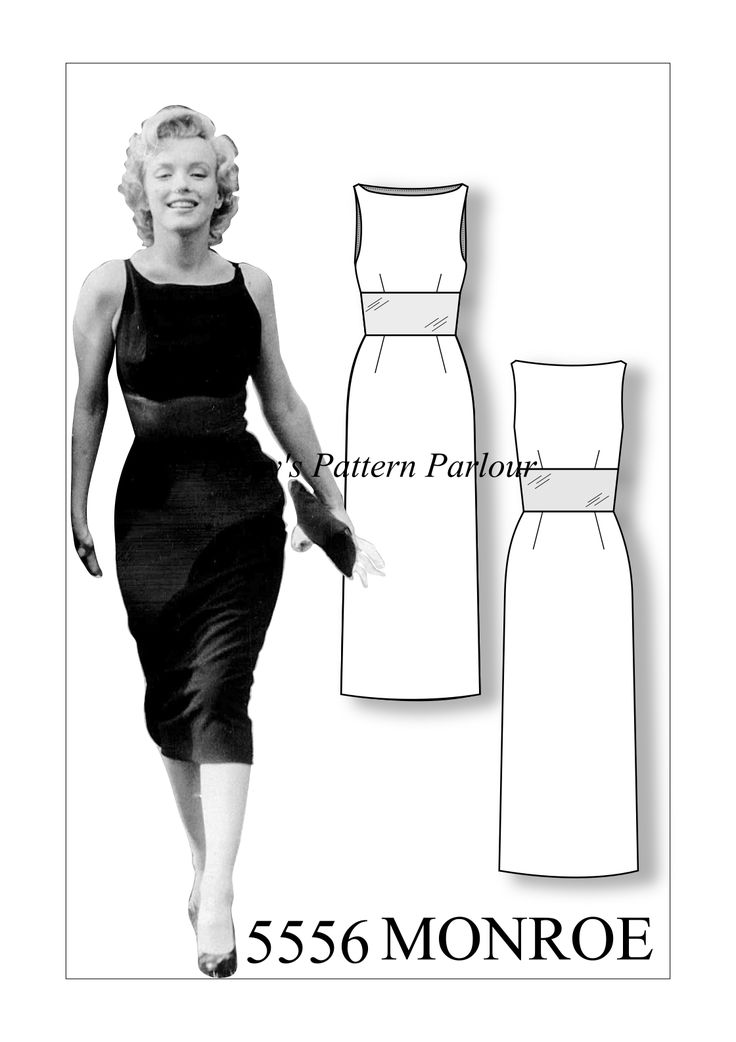 £14.99 Marilyn Monroe Savoy dress vintage sewing pattern from Daisy's Pattern parlour. Order yours today and get your bee on next weekend!