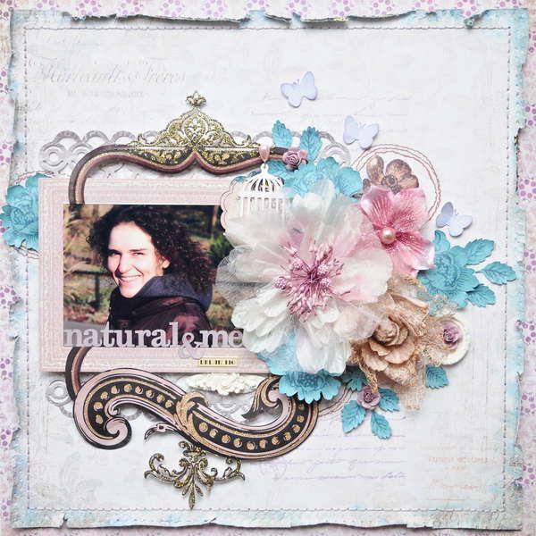 Floral Scrapbook page, so pretty scrapbooking