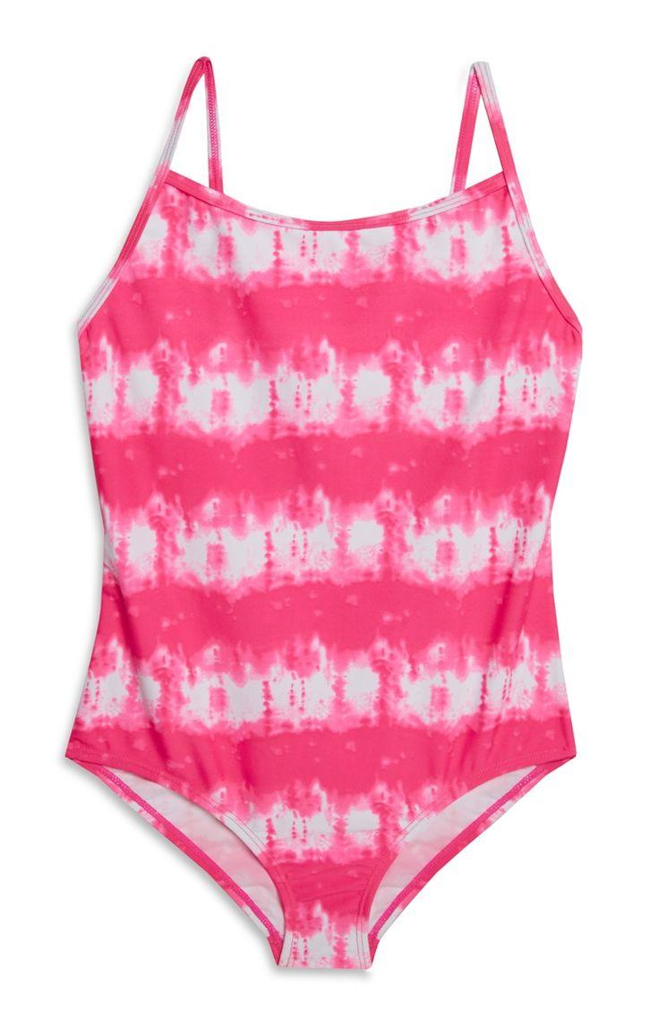 Roze tie-dye badpak