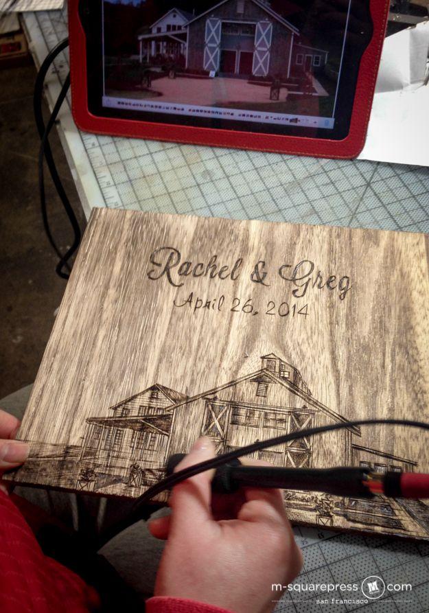 Pippin Hill Farm Wedding Rustic Guest Book - M-squarePress Blog