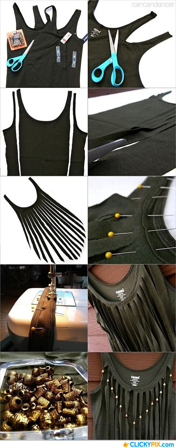13 DIY Clothing Refashion Ideas with Picture Instructions - Clicky Pix