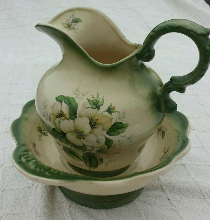 485 best images about pitcher basin sets on pinterest. Black Bedroom Furniture Sets. Home Design Ideas