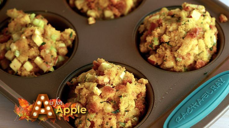 Rachael Ray is making her classic Thanksgiving Apple, Celery and Onion Stuffing. Simple easy and absolutely delicious side!