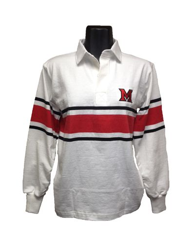 Barbarian Rugby M Lc White/black/red 12238514 | Miami University Bookstore