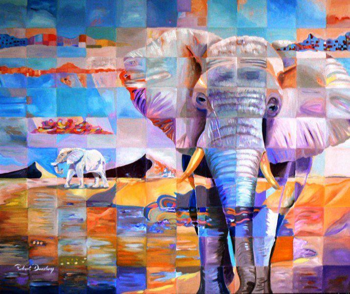 Robert+Doesburg, elephants modern edge, cubism