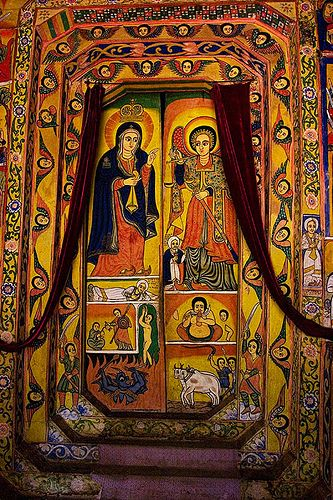 Painting on the walls of the church in Tana Lake - North Ethiopia | © Johan Gerrits. No further info. (There are a number of medieval churches on the 37 Islands in the lake, almost all closed to women; couldn't find which one this is. rw)