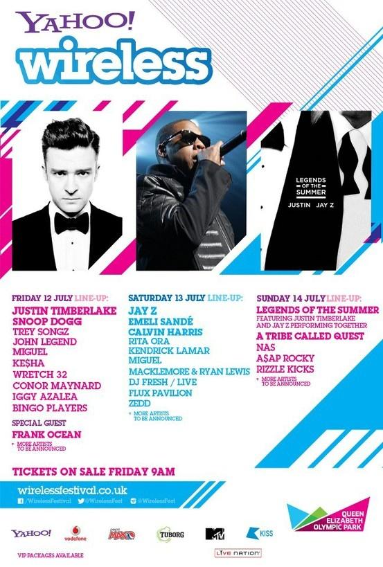 Wireless Festival 2013! Jay-Z, Justin Timberlake, Frank Ocean, Kendrick Lamar, Rita Ora, Calvin Harris, A Tribe Called Quest... and more!!!