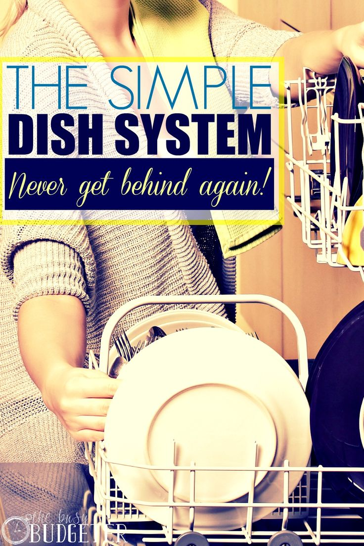 The Simple Dish System- Never Get Behind Again. Finally a routine for my dishes that actually works! I've tried everything!