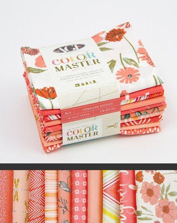 No 10 Fat Quarter Bundle for Art Gallery Fabrics 3 Coraline Edition