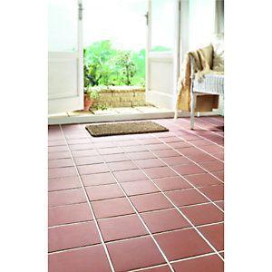Wickes Red Textured Quarry Ceramic Floor Tile 150x150mm