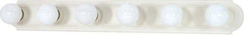Nuvo 60/314 36-Inch Six Light Vanity Strip, Textured White by Nuvo. $40.40. Textured white 36-Inch six light vanity strip. (6) 100-Watt type G medium base bulbs not included.