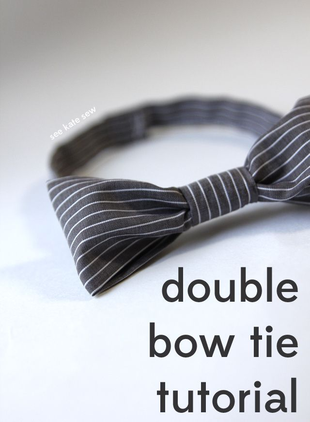 double bow tie tutorial | clothing ideas for kids | DIY bow tie | how to make a bow tie | bow tie tutorial | DIY kids clothing | sewing kids clothes | sewing tips and tricks | sewing tutorials || See Kate Sew