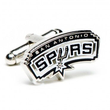 Officially licensed San Antonio Spurs Cufflinks by NBA. Headed by coach Gregg Popovich, San Antonio Spurs has always been a top contender team to win the championship.