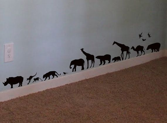 Safari Animals Wall Decal Africa Vinyl Wall Art by WallStickums, $20.00