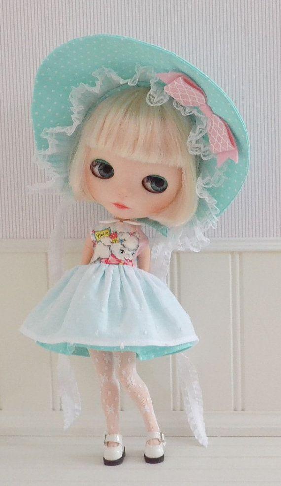 BLYTHE Little Bo Peep Dress and Bonnet by di SweetPetiteShoppe