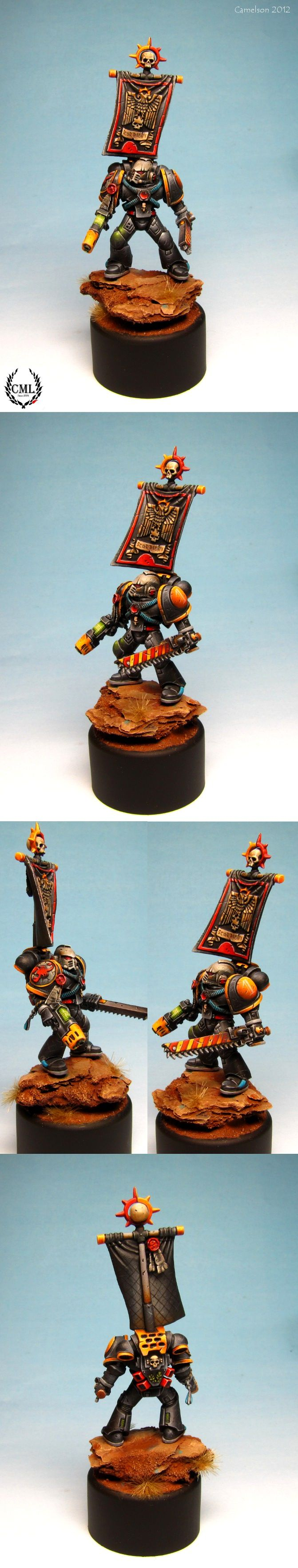camelsonart: Red Scorpions Space Marine painted.