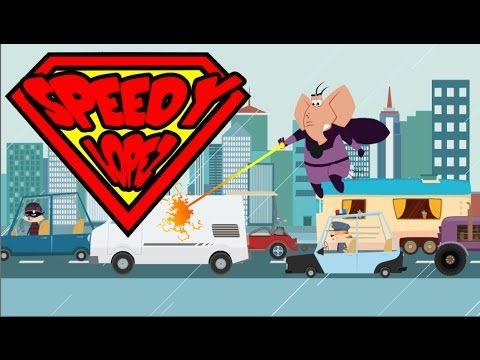 Dibujos animados Speedy Lopez mojado por un coche Dibujos Animados Infantiles de speedy López el elefante. Películas Para Niños Gratis Children's cartoons by...