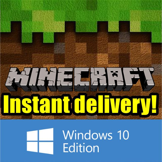 MINECRAFT WINDOWS 10 EDITION KEY WARRANTY (redeem code microsoft