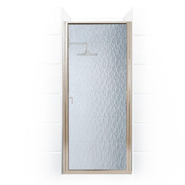 Coastal Shower Doors Paragon Series 33 in. x 74 in. Framed Continuous Hinged Shower Door in Brushed Nickel with Aquatex Glass