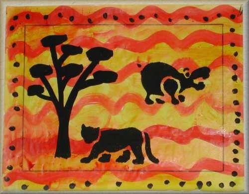 Les 11 meilleures images du tableau arts plastiques - Animaux de la jungle maternelle ...