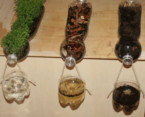 For all my teaching friends:  This experiment, which has a tremendous visual impact for its simplicity, it will demonstrate the relationship between rainfall, soil erosion, protect waterways and vegetation.  COOL !    A very simple experiment that emphasizes the importance of the vegetation of the land.