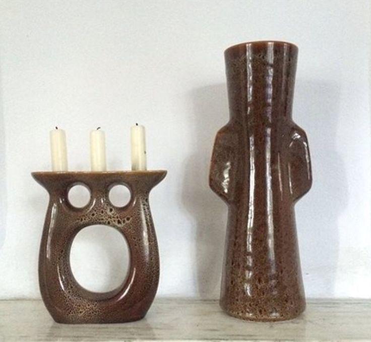 Świecznik i wazon, proj. Adam Sadulski, Mirostowice