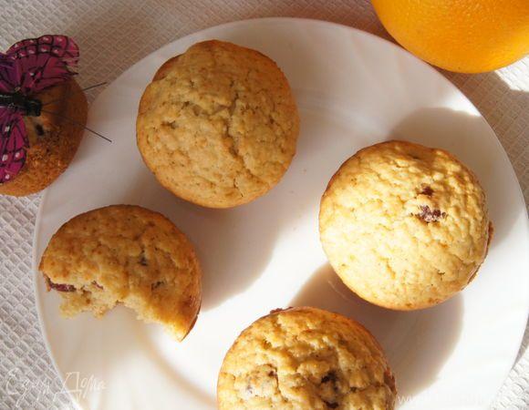 Апельсиновые кексы с овсяными хлопьями и вяленой вишней