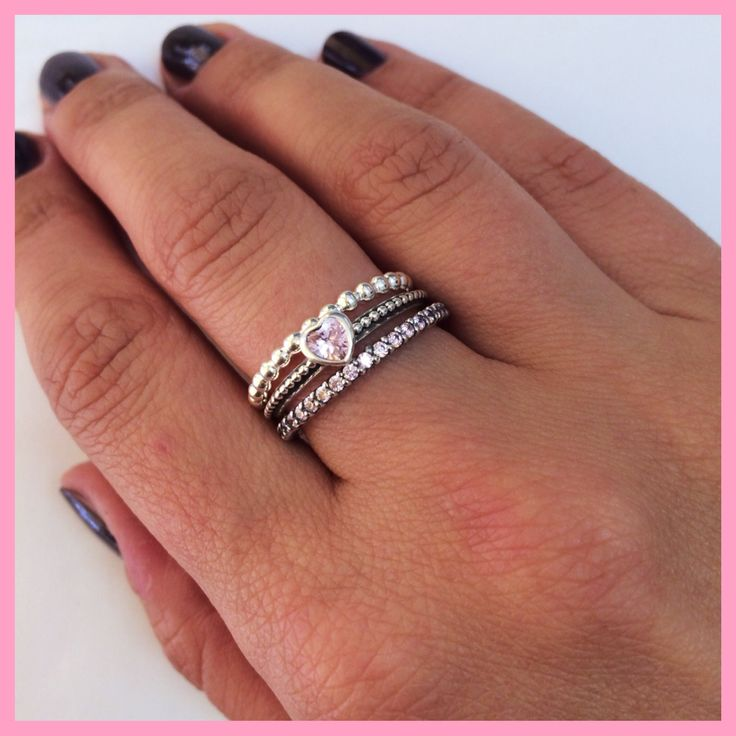 New addition to my #pandora stack rings, forever ring in pink zirconia (the