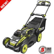 Check out this RYOBI product -   	 Visit the interactive landing page to learn more about 40V GAS-LIKE Power.      	        RYOBI continues to innovate and redefine the cordless lawn mower   with the 20 in. 40-Volt Brushless Lithium-Ion Cordless Electric   Self-Propelled Lawn Mower. This self-propelled mower features rear wheel   drive, providing more traction for powering up hills and increased control   for easily mowing in straight lines. This mower delivers GAS-LIKE power from   an…