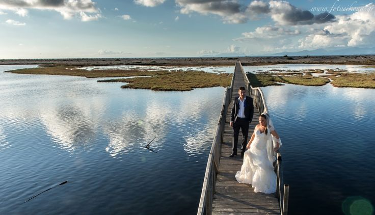 Marvelous wedding photography #bridge #Lefkas #Ionian #Greece #wedding #weddingdestination Eikona Lefkada Stavraka Kritikos