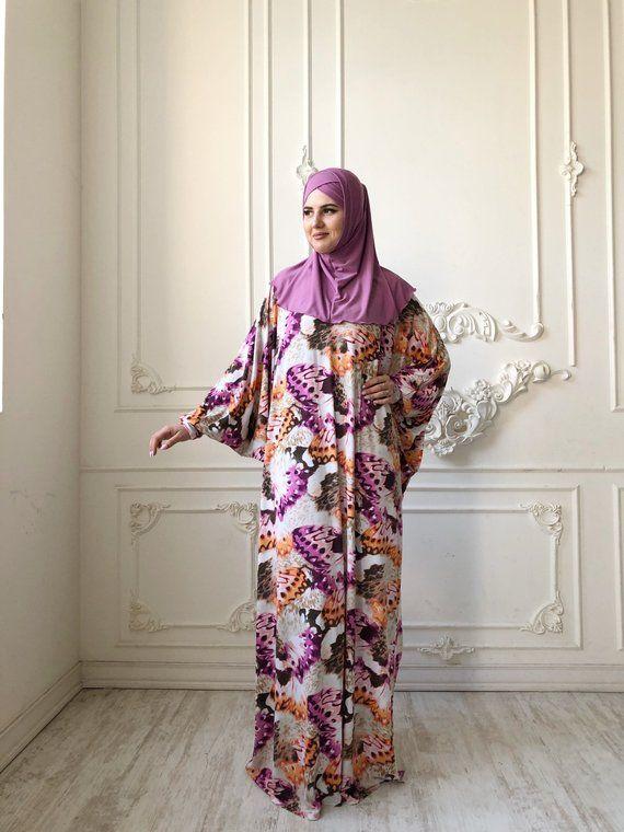 026bcf55252 Bohemian plus size maxi dress colorful long sleeve islamic