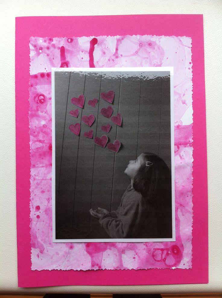 kaart moederdag : achtergrond = verfbellen blazen