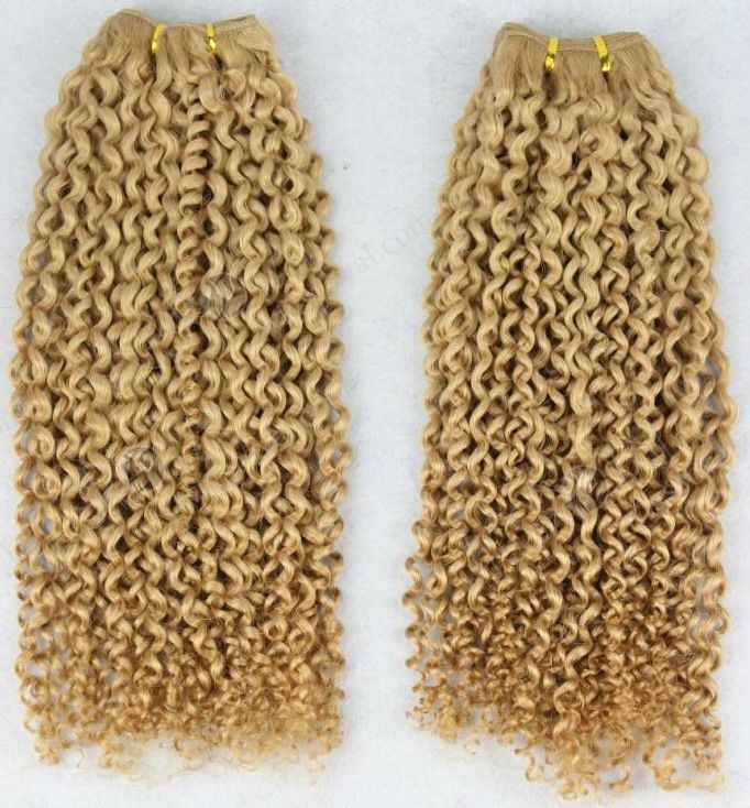 2013 hot sale 5A grade best quality white women tight spiral curl blonde brazilian hair weft color 27#, View blonde brazilian hair weft, WIGSROYAL Product Details from Qingdao Wigsroyal Hair Products Co., Ltd. on Alibaba.com