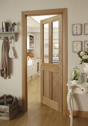 Burford 4 Panel Oak Glazed Door