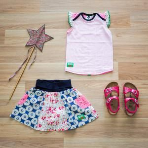 Shortcake Frilly Top, Party Time Skirt, Birkenstock Rio Silver, Oishi-m Clothing for Kids, Holiday 17, www.oishi-m.com