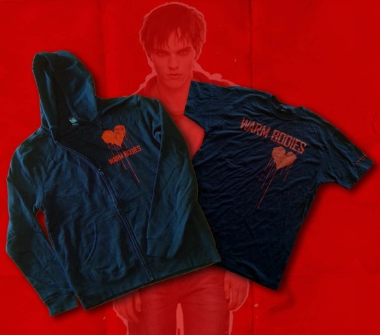 'Warm Bodies' first prize: Hoodie in large or small. Second prize: T-shirt in large or small. Re-pin to enter!  *South Africa only. Ends 12:00 on Friday 15th. Winner will be announced in the comments for this pin.
