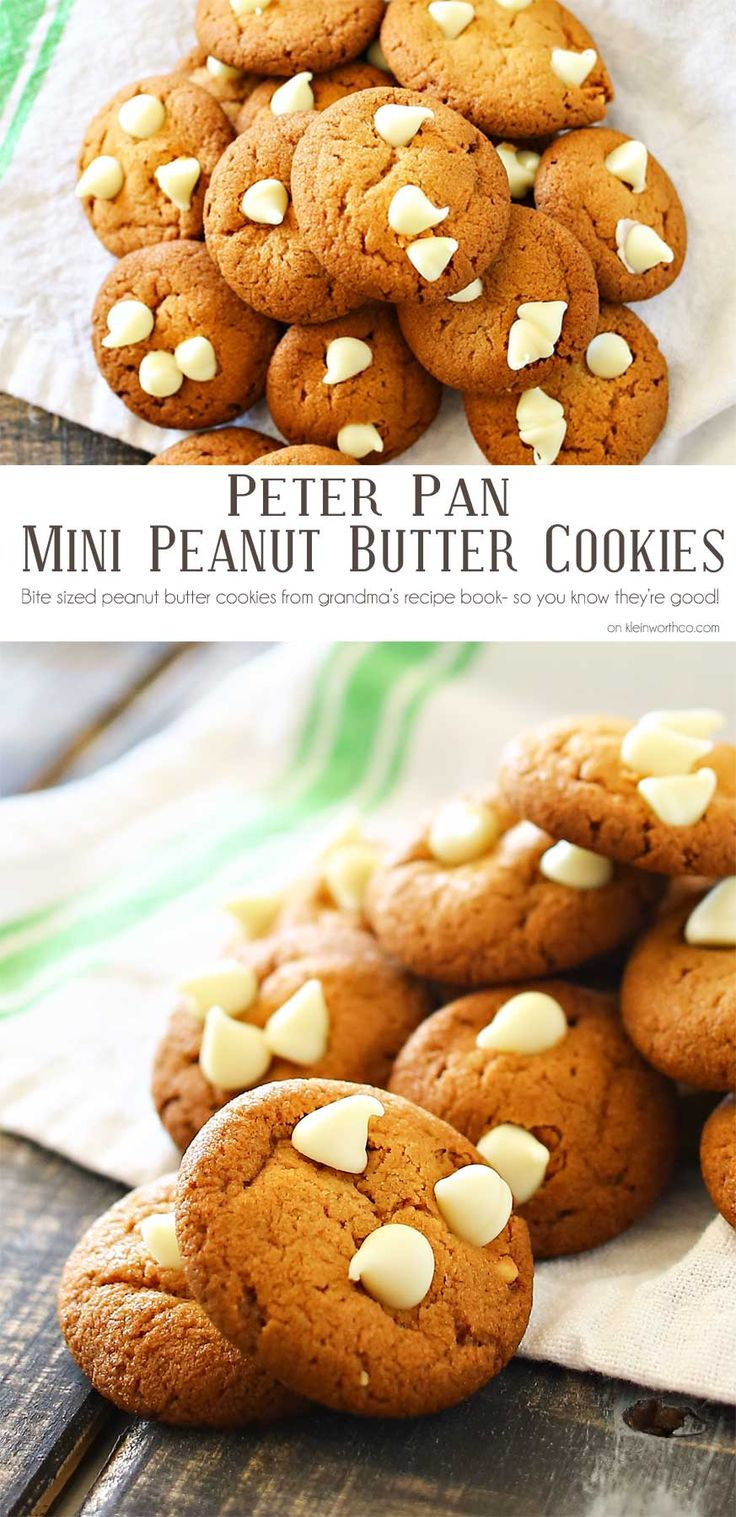 Peter Pan Peanut Butter Cookies are mini, soft & chewy peanut butter cookies…