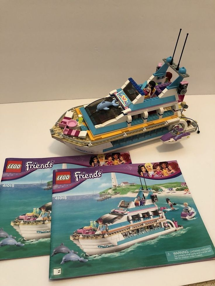 LEGO Friends Dolphin Cruiser Boat 41015 Complete ...