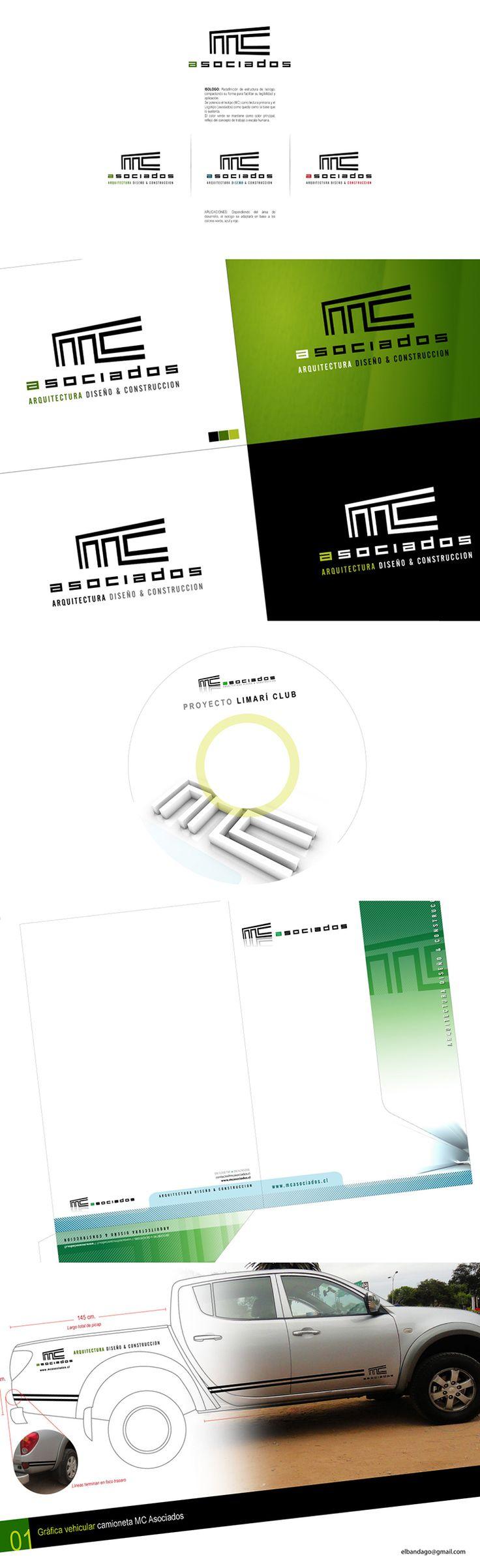 2007 / MC Asociados on Behance #graphic #design #branding #logotype #illustrator #photoshop