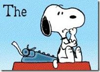 Because Snoopy and writing at the same time makes for a fun first draft.