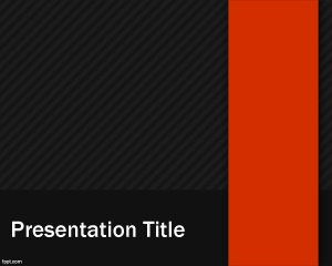 This is a grey style PowerPoint template with red ribbon that you can use for professional business PowerPoint presentations requiring a dark theme in Microsoft PowerPoint