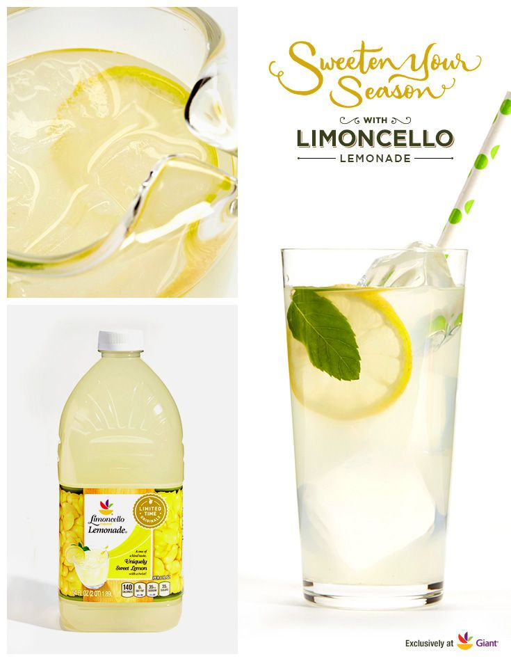 Our delicious, refreshing Limoncello Lemonade is inspired by 100 years of Italian tradition. Try our unique twist on a summery classic to quench your thirst. You can also add some fizz to it by topping off a glass with Seltzer or Club Soda.  It's one of 50+ Limoncello products available now through July 2015.