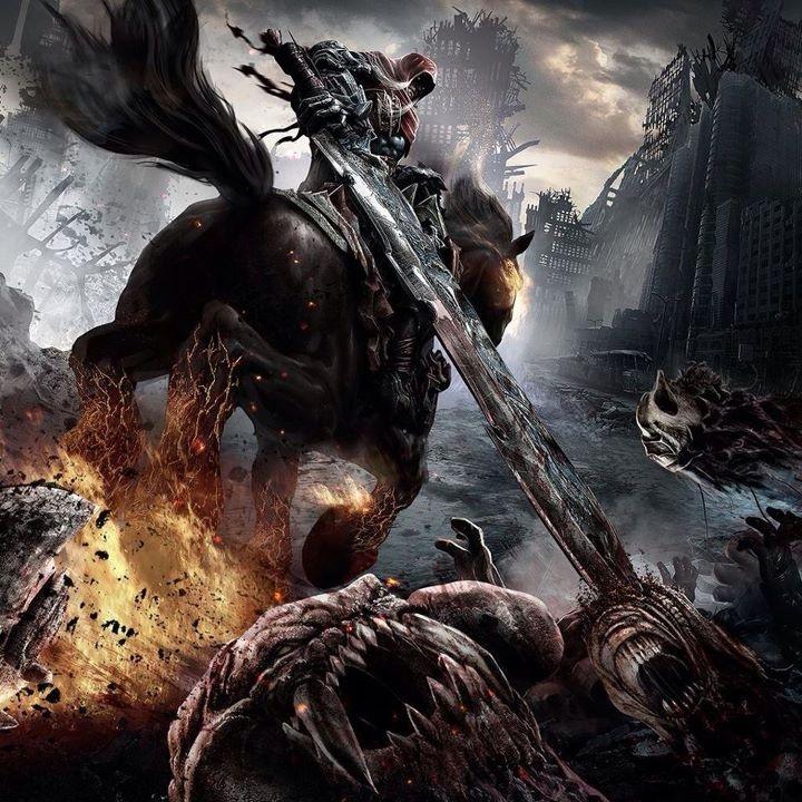 Battle Scene - Ariel fighting the demon Hordes   Blood of ...