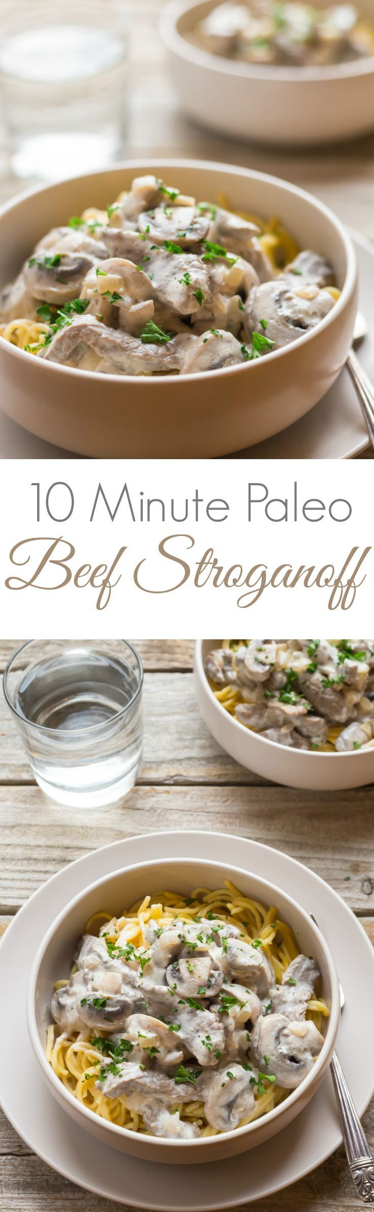 Easy Paleo Beef Stroganoff recipe, it's so tasty and you can make it in only TEN minutes!! | gluten free | paleo | primal |